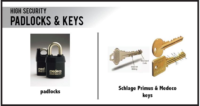 Padlocks & Keys